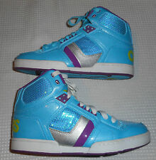 Osiris NYC 83 SLM Skateboarding Women's Size 10 Sneakers EUC Light Blue Purple