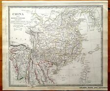 Antique Map China 1834 Southeast Asia Hainan Formosa Taiwan Korea Myanmar
