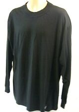 WOOLRICH MENS TURTLE NECK  LONG SLEEVE SIZE XL 100% COTTON BLACK