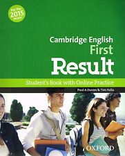 CAMBRIDGE ENGLISH FIRST RESULT FCE Student's Book +Online Practice 2015 Exam NEW