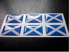 6 X Saltire Flag Resin 3D Domed Scotland Sticker label 27mm x 16mm waterproof
