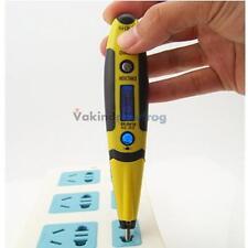1PC 12 250V AC DC Digital Voltage Detector Tester Pen LED Light Electric Sensor#
