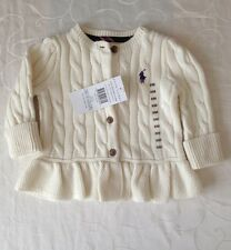 Ralph Lauren Baby Girl's Claasic Cable Cardigan (3-6 Months);