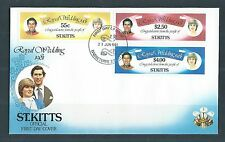 ST KITTS Diane and Charles Royal Wedding First Day Cover 1 MNH