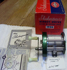 SHAKESPEARE DIRECT DRIVE 1926 FK  REEL    02/10/15MW   WOW MINTY WITH BOX PLUS