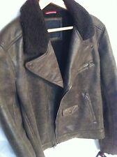 Tommy Hilfiger Men's Faux Leather Jacket Size L Retail $ 295.00
