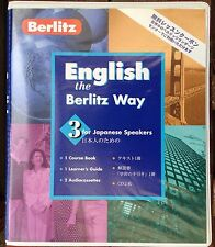 English The Berlitz Way 3 for Japanese Speakers Course Book Guide & CDs