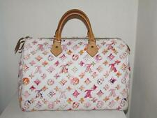 Auth Louis Vuitton Speedy 35 Watercolor Aquarelle White Monogram Richard Prince