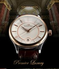 Kronen & söhne white & gold  with Date Men Automatic Mechanical Luxury Watch