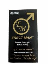 Erect-Man Extreme Potency Male Enhancement Pill! Last up to 3 Days! -10 Pills!