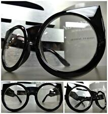 LARGE OVERSIZE VINTAGE Style Clear Lens EYE GLASSES THICK BLACK FASHION FRAME