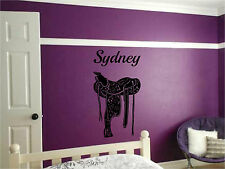 Horse Saddle & Personalized Name Wall Sticker Wall Art Decor Vinyl Decal Sticker