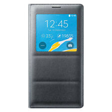 New Original Authentic Samsung Galaxy Note 4 S-View Flip Cover Charcoal Black