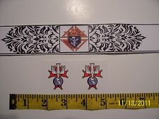 "KNIGHTS OF COLUMBUS - 4th Degree Round STICKER 1.5"" Count 2"