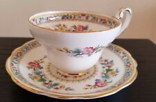 VINTAGE EB FOLEY BONE CHINA MING ROSE TEA CUP & SAUCER MADE IN ENGLAND