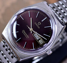 OMEGA SEAMASTER AUTOMATIC DAY&DATE CAL 1022 RED WINE DIAL DRESS MEN'S WATCH