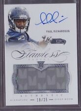 2014 Flawless Paul Richardson On Card Auto 2 Color Patch Rc Serial # to 25 RARE