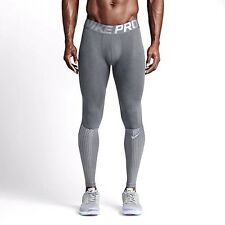 NIKE PRO HYPERCOOL Mens Compression Hyper Running Training Tights Grey Sz Medium