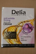 DELIA ARGAN CARE ANTI WRINKLE FIRMING DAY NIGHT FACE CREAM COLLAGEN 50ml FREE PP