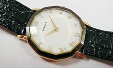 Lassale by Seiko Gold Tone Base Metal 7N00-5060 Leather Sample Watch NON-WORKING