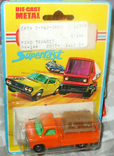 1975 Matchbox Lesney Superfast No. 66 Orange Ford Transit Pick Up Card has some
