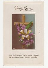 Easter Peace Tinted RP Greetings Postcard, A710