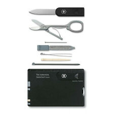 0.7133 VICTORINOX SWISS ARMY SWISSCARD BLACK CREDIT CARD 10 TOOL 53333 07133