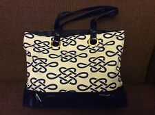 Estee Lauder Navy Blue  Knotted Tote Bag New