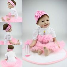 "22 ""Reborn Baby Dolls Real Life Poupées Simple Nouveau-né Baby Silicone Lovely"