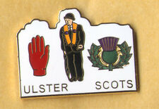 ulster scots lapel badge orange order thistle loyalist loyal orders red hand RFC