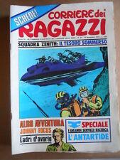 CORRIERE DEI RAGAZZI n°47 1974 con inserto Albo Avventura + schede  [G556]