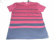 Hollister Mens Boys Teens T-Shirt V Neck Large Burgandy Stripe 2016 BRAND NEW #