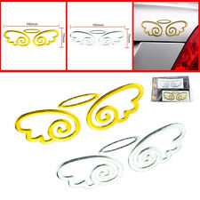 CAR GOLD ANGEL STICKERS (PAIR) 3D STICKER DECAL UNIVERSAL FIT (UK SELLER)