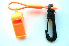 JETSKI SEADOO WAVERUNNER JET BOAT MERCURY MARINE WHISTLE WITH CLIP ORANGE