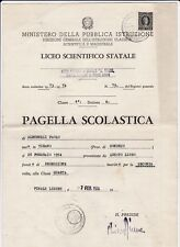 PAGELLA SCOLASTICA LICEO SCIENTIFICO O. GRASSI FINALE LIGURE 1973 10BIS-18