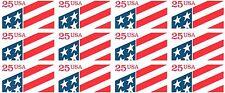FLAG ATM  STAMP PANE -- USA #2475a 25 CENT 1990