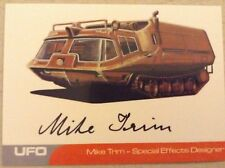 UFO: AUTOGRAPH CARD: MIKE TRIM - SPECIAL EFFECT DESIGNER MT1