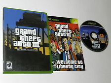 Grand Theft Auto III GTA 3 The Collection Microsoft Xbox Game Complete CIB