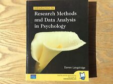 Introduction To Research Methods And Data Analysis In Psychology Book, Langridge