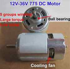 775 DC Motor 12V-24V 3500-9000RPM Ball Bearing Large Torque High Power low noise