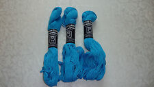 3 Skeins Tahki Cotton Classic Mercerized Cotton Yarn # 3830 Blue NEW