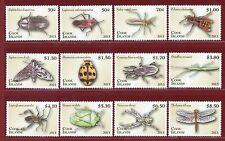 Cook Islands #1460-71, Insects & Spiders, SCV $57.80