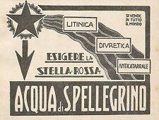 Z0637 Pubblicità del 1930 - Advertising - Acqua di San Pellegrino Stella Rossa