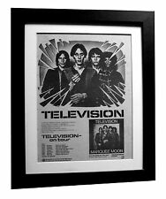 TELEVISION+Marquee Moon+POSTER+AD+FRAMED+RARE ORIGINAL 1977+EXPRESS GLOBAL SHIP