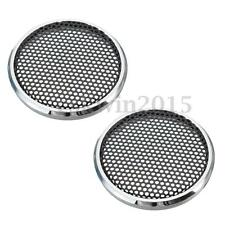 2PCS Decorative Circle W/ Protective Grille for 1''inch Tweeter Net Car Speaker