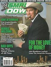 JULY 2004 WWE SMACKDOWN WRESTLING MAGAZINE JOHN BRADSHAW LAYFIELD WRESTLEMANIA