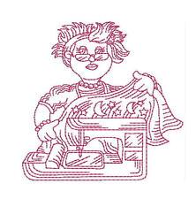 1045:  Machine Embroidery Designs - Sew Grannie Sew - Redwork