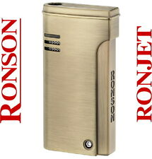 Ronson Dalliance Ronjet Brass Satin Jet Torch Flame Lighter New Gift Boxed