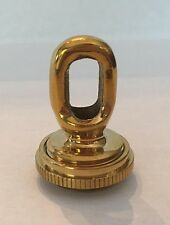 NEW CAST BRASS SCREW-COLLAR LOOP tap 1/8 IPS POLISHED AND LACQUERED