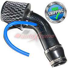 Universal COMPLETE COLD AIR INTAKE Induction KIT HOSE System & JDM Filter BLACK